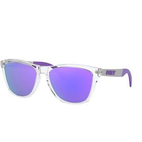 Oakley Frogskins Mix Sonnenbrille Damen polished clear/prizm violet polarized